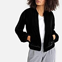 La Redoute Collections Womens Velour Bomber Jacket