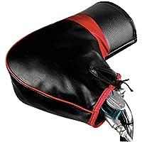 ANR バイク スクーター 自転車 防水 防寒 カバー 赤黒 冬用グローブ ハンドルカバー ブラック 保温性抜群