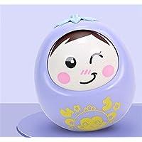 KEANER 新生児 乳児 ロールポリー おもちゃ 安全 ベビーサウンド 小猿 パズル タンブラー 教育玩具 (パープル)