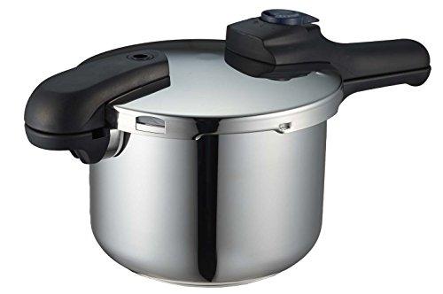 パール金属 圧力鍋 4.5L IH対応 3層底 切り替え式 レ...