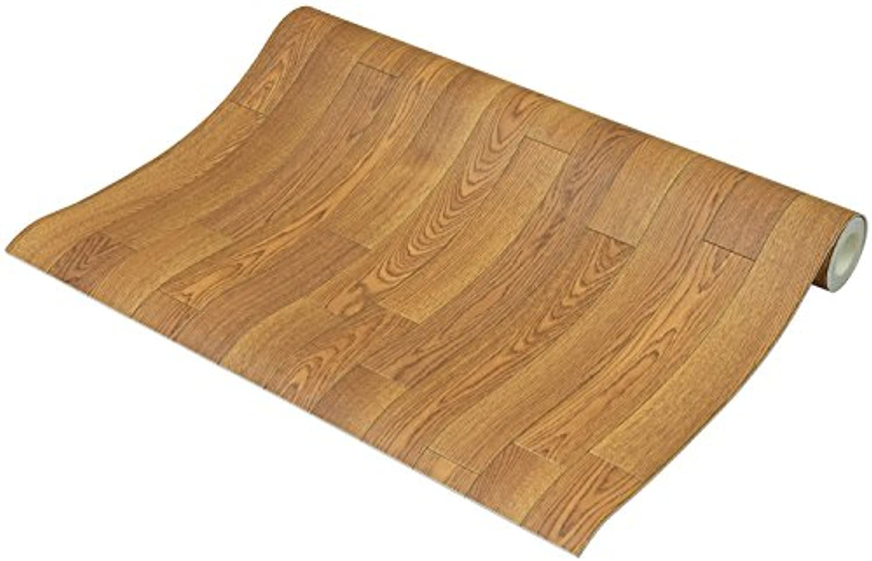 フリーカット 敷くだけリメイク床シート 木目 ナチュラル 約90×350cm