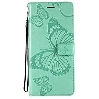 Moonmini Samsung Galaxy Note 9 Case,優れた Retro Multifunction Leather Wallet Case Cover [ Kickstand ] Pu Leather Wallet Case with ID & Credit Card Slot For Samsung Galaxy Note 9