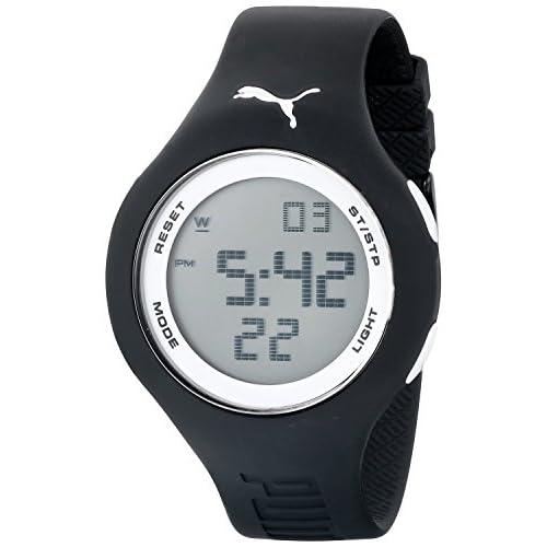 """[プーマ] PUMA 腕時計 Men's """"Loop"""" Digital Watch with Black Band クォーツ PU910801017 [バンド調節工具&高級セーム革セット]【並行輸入品】"""