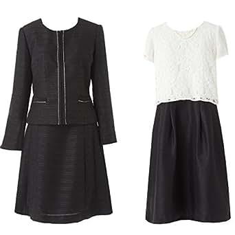(アンジェリカ)Angelica 20802 ブラック 11号 3点セット アンサンブルスーツ スカートスーツ 高品質セレモニースーツ ワンピーススーツ 黒
