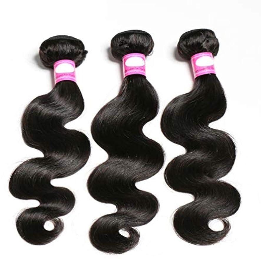 ソートナインへ研磨ブラジルの巻き毛の束深い波の束100%ブラジルのレミーの巻き毛の人間の毛髪の織り方ブラジルの毛の束(3束)