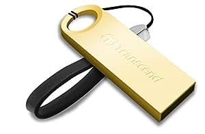 Transcend USBメモリ 16GB USB 2.0 キャップレス ゴールド 耐衝撃 防滴 防塵 (無期限保証) TS16GJF520G