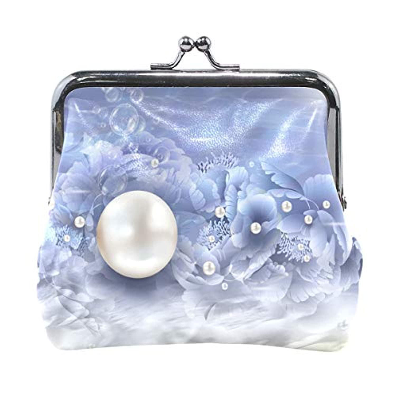 AOMOKI 財布 小銭入れ ガマ口 コインケース レディース メンズ レザー 丸形 おしゃれ プレゼント ギフト デザイン オリジナル 小物ケース 真珠 花柄