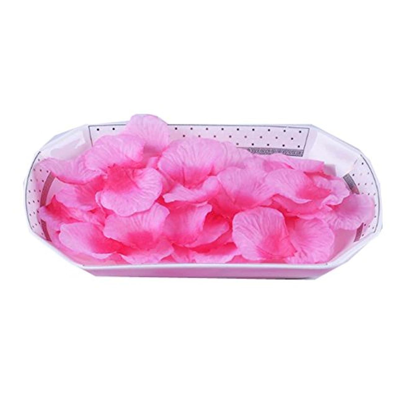 ワイヤー名誉ある餌人工ローズ花びら婚約のピンクの花びらはピンク3000のセット