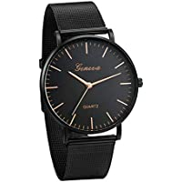 JewelryWe Mens Luxury Simple Watch Analog Business Quartz Watch Metal Steel Band Wrist Watch