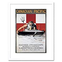 Travel Canadian Pacific Canada USA Neptune Ship Liner Framed Wall Art Print 旅行パシフィックカナダアメリカ合衆国船ライナー壁