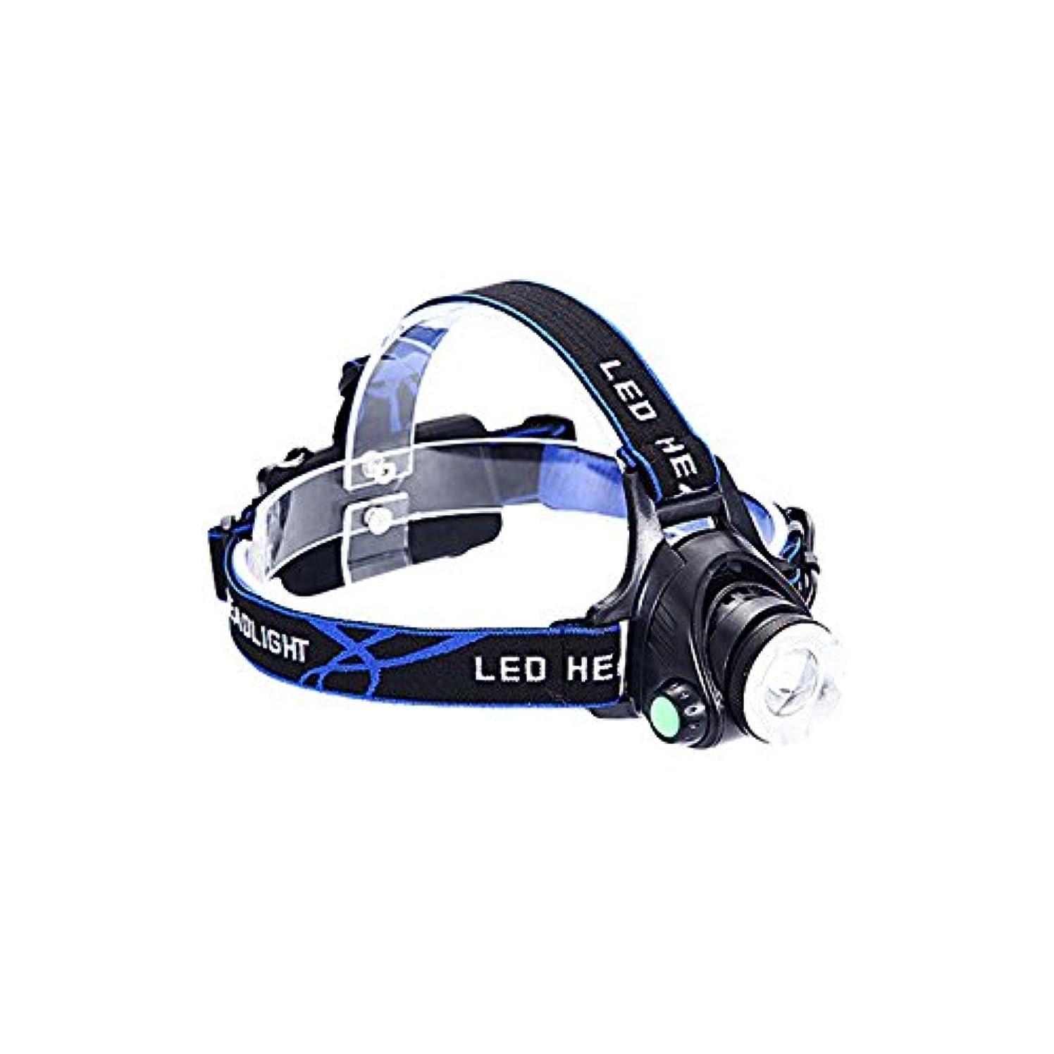 メロン虐待消防士MUTANG LED誘導ヘッドライト3000Wデュアル光源ヘッドマウント懐中電灯ライト調節可能なUSBスマートチャージヘッドランプマイナーランプホワイト+ブルーライト