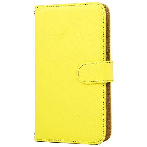 [スマ通] Xperia 8 SOV42 スマホケース スマホカバー 携帯ケース 携帯カバー 手帳型 本革 イエロー SONY ソニー エクスペリア エイト au SIMフリー