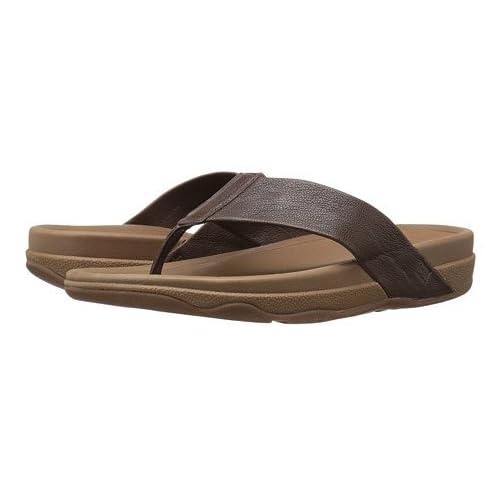(フィットフロップ)FitFlop メンズサンダル・靴 Surfer Leather Chocolate Brown 8 26cm M (D) [並行輸入品]