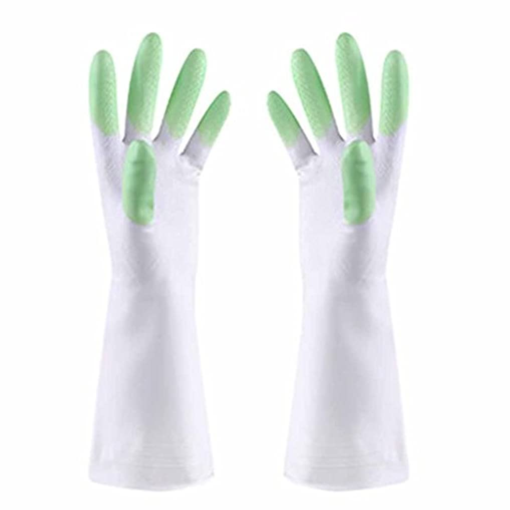 陰謀ゴミ箱超えて使い捨て手袋 防水性と耐油性の薄い手袋PVCスマートで耐久性の高いキッチン多機能手袋 (Color : Green)