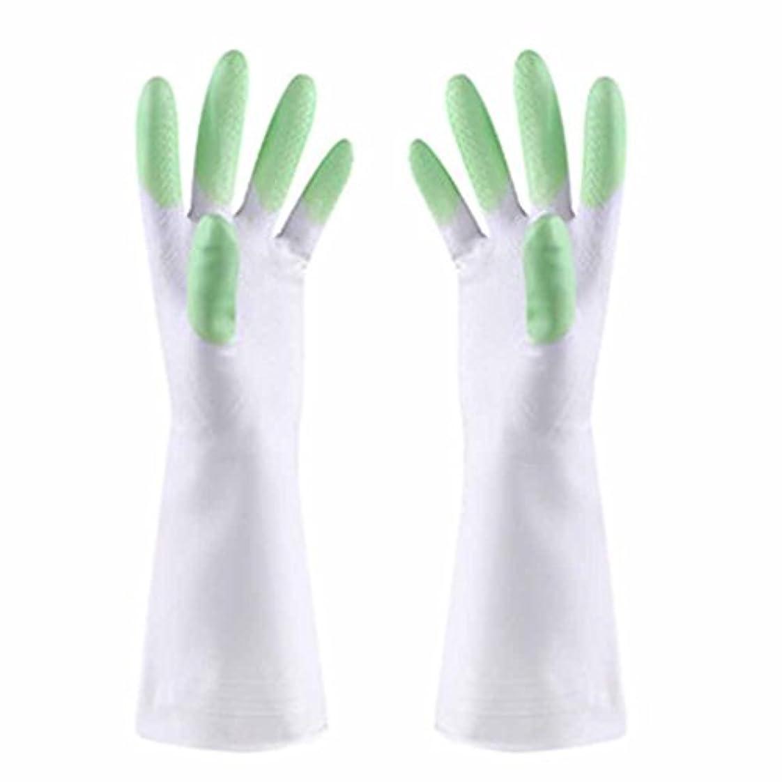 の量フルーツ活気づける使い捨て手袋 防水性と耐油性の薄い手袋PVCスマートで耐久性の高いキッチン多機能手袋 (Color : Green)
