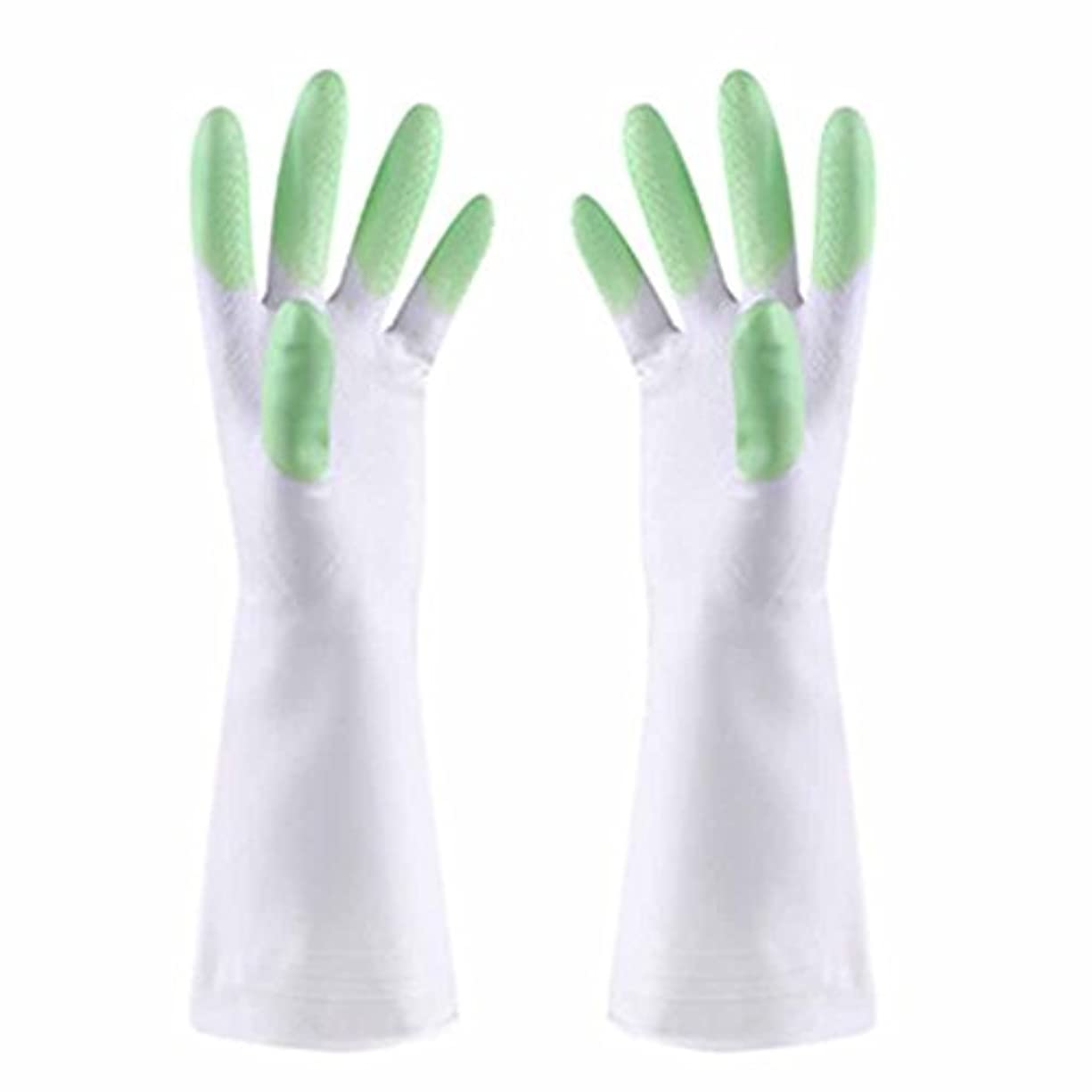 少し曲凶暴な使い捨て手袋 防水性と耐油性の薄い手袋PVCスマートで耐久性の高いキッチン多機能手袋 (Color : Green)