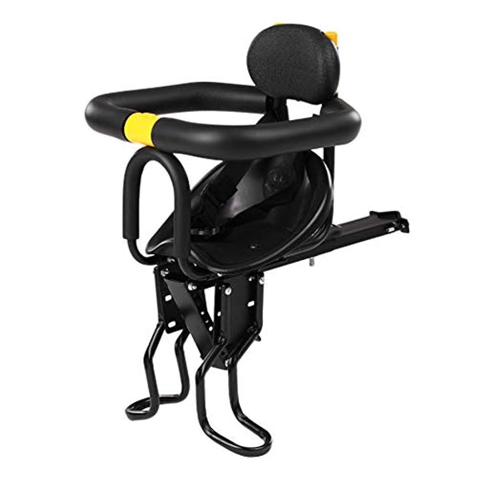 ラジウム所有者チェス自転車チャイルドシート - キッズセーフティキャリア - 調節可能なフットペダル付きラッククッションサドルシート