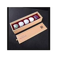 FX ティーカップ、カンフーセラミックティーセット、五有名な窯カップ、セットカップ、窯のオープニング、小さなカップ (Color : A)