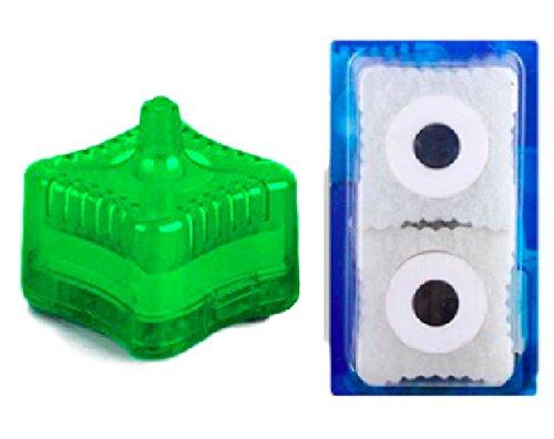 水槽用 水中フィルター エアーポンプ エアレーション 交換用 ろ材 付き (ろ材付き, グリーン)
