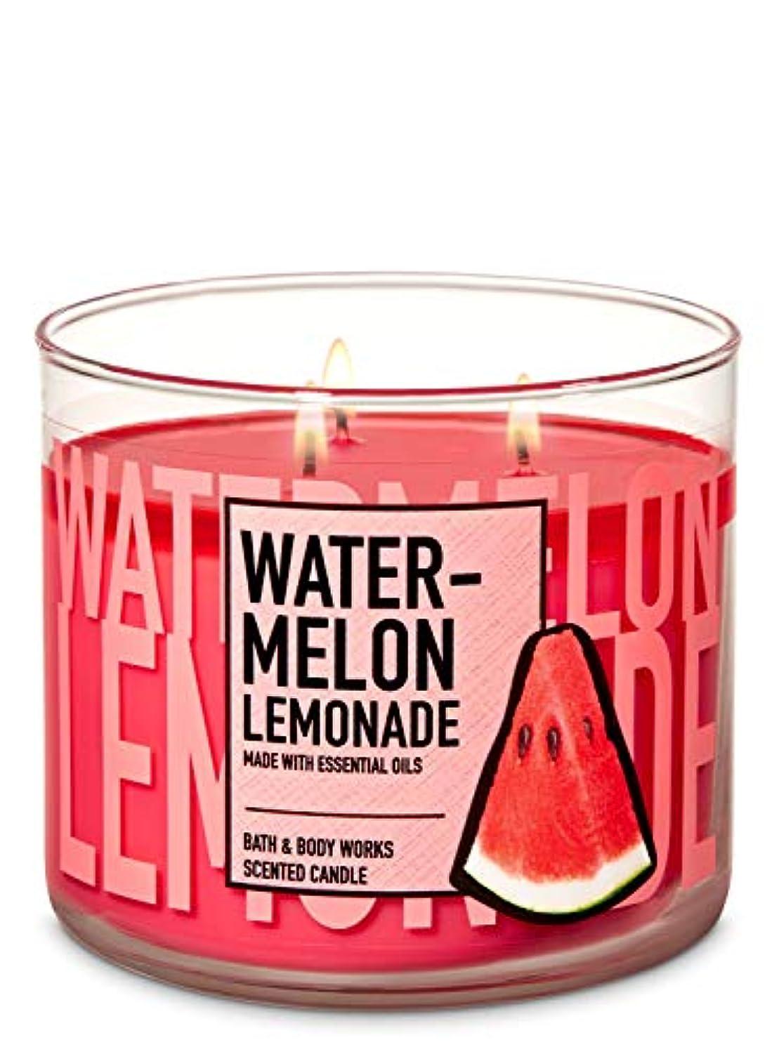 兵器庫症状永遠の【Bath&Body Works/バス&ボディワークス】 アロマキャンドル ウォーターメロンレモネード 3-Wick Scented Candle Watermelon Lemonade 14.5oz/411g [並行輸入品]