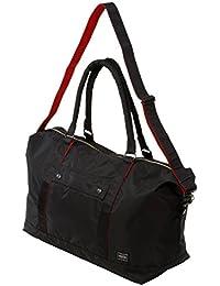 ポーターエルファイン(PORTER L-fine) PORTER×ILS共同企画 ボストンバッグ(38mm幅ショルダーストラップ付)Boston Bag ブラック(裏地:レッド) Black(Backing:Red)