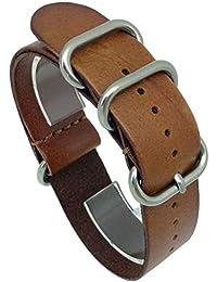 95d69091ea ドノロロジオ(DonOrologio) 腕時計 NATO レザー 本革 皮 ベルト ...
