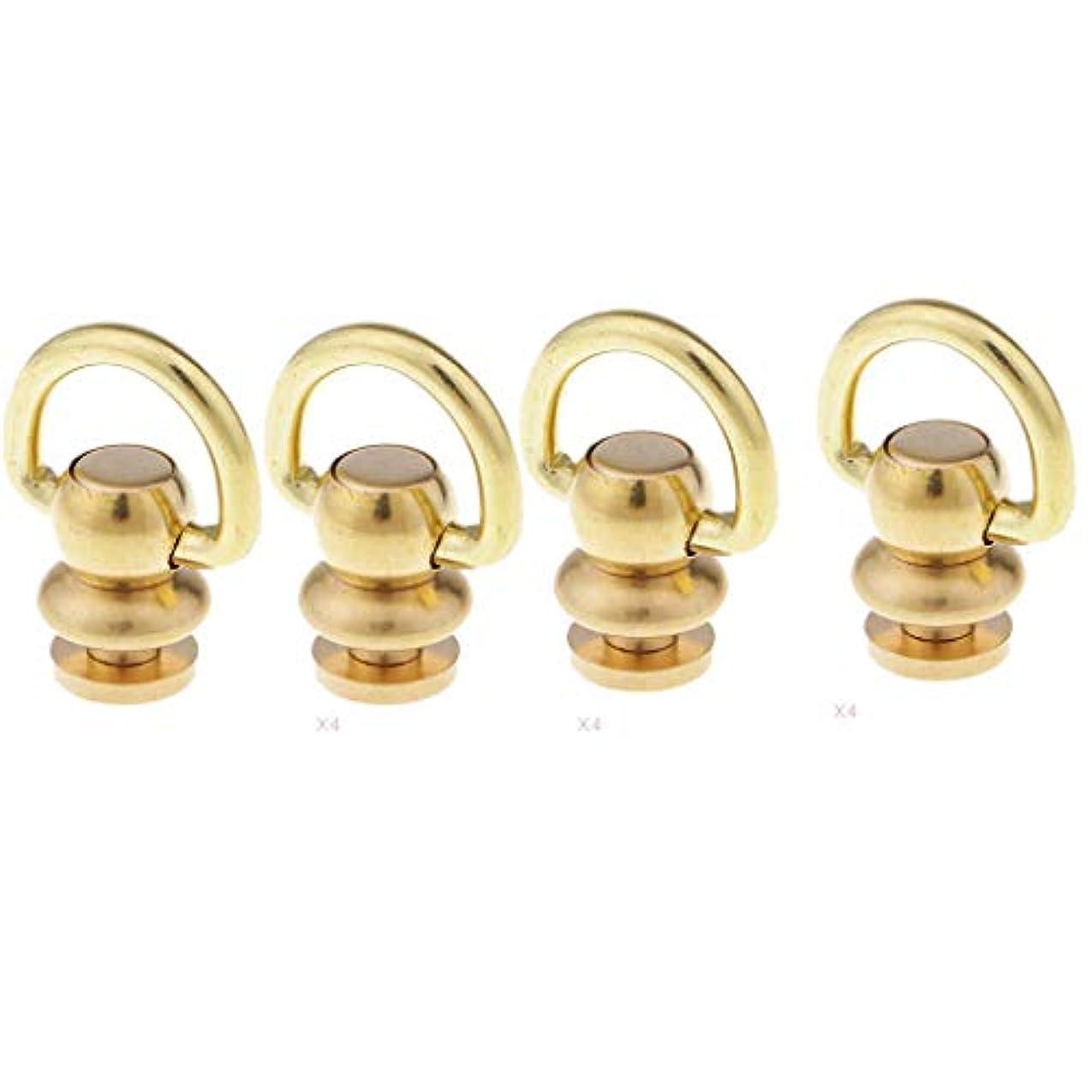 打ち上げるパケット各4ピース リベット スタッド 回転 ラウンドヘッド ボールポスト 銅 装飾