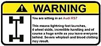 アウディrs7面白い警告ステッカーfor 4ホイールドライブ車、Perfectギフトデカール