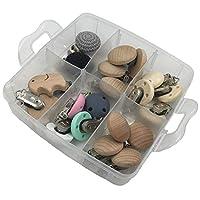 Kissteether DIY看護ジュエリーコンビネーションパッケージ混合色木製/シリコーン天然赤ちゃんおしゃぶりクリップベビーティーザーおもちゃセット