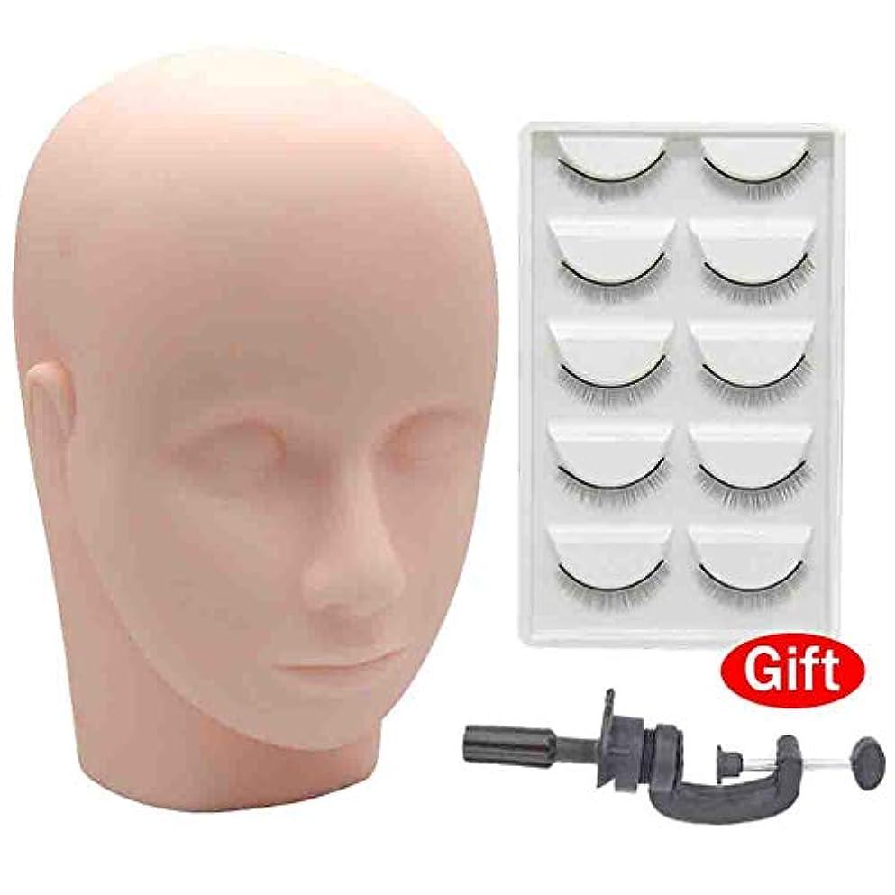 静かに周波数与える移植まつげモデルヘッド半永久的なタトゥーメイクアップ練習ヘッド美容マッサージダミーヘッドモデルX3