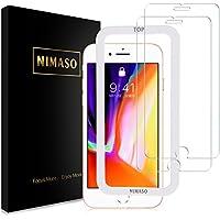 ( 2条装 ) nimaso iphone8/ 苹果 IPHONE7钢化玻璃液晶保护膜 ( 日本制造材质旭硝子制造 ) 支持3d Touch / 业界最9H 硬度 / 透过率99.9( iPhone 8/ 7, 一套2张 )
