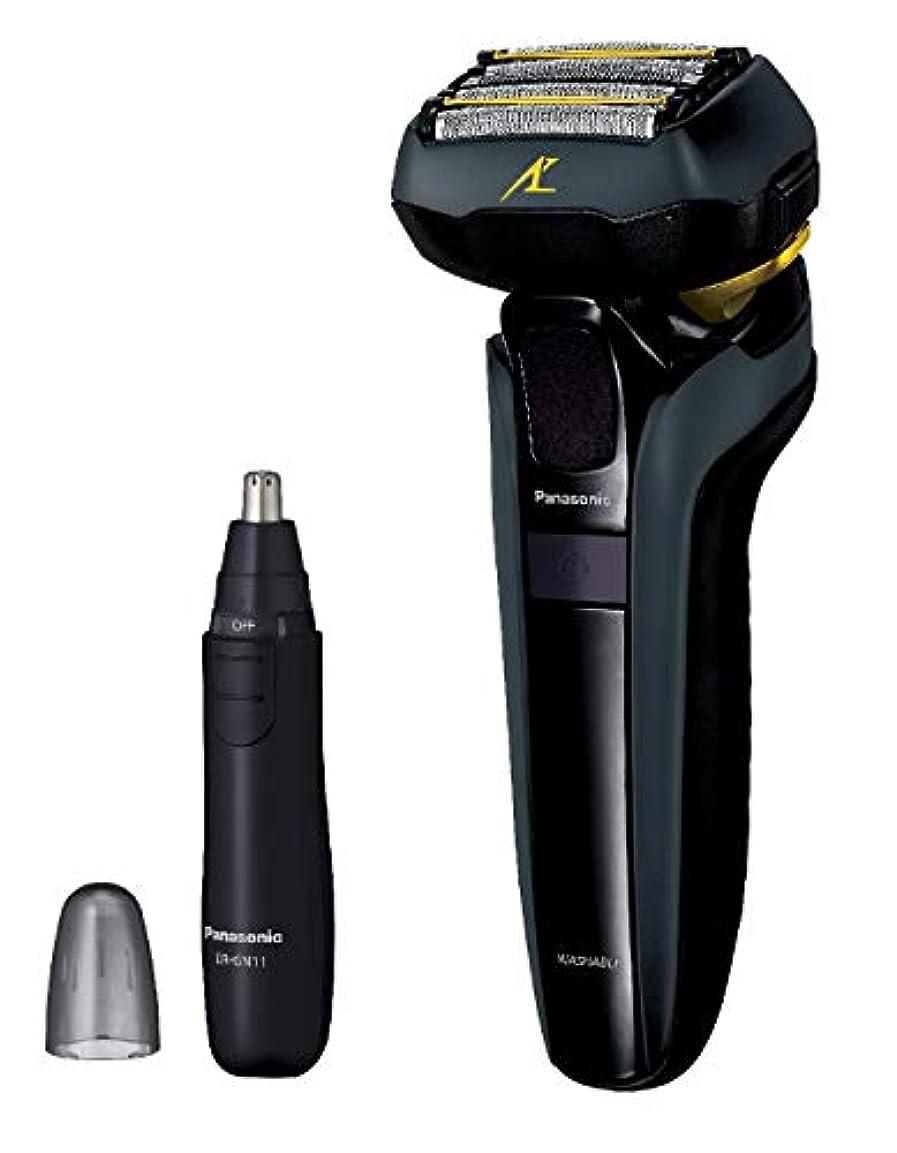 異形エンゲージメント約設定パナソニック ラムダッシュ メンズシェーバー 5枚刃 黒 ES-LV5D-K + エチケットカッターER-GN11-K セット
