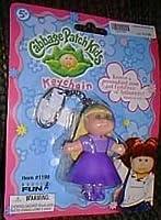 Cabbage PatchブロンドHair Girl Inパープルドレスキーチェーン