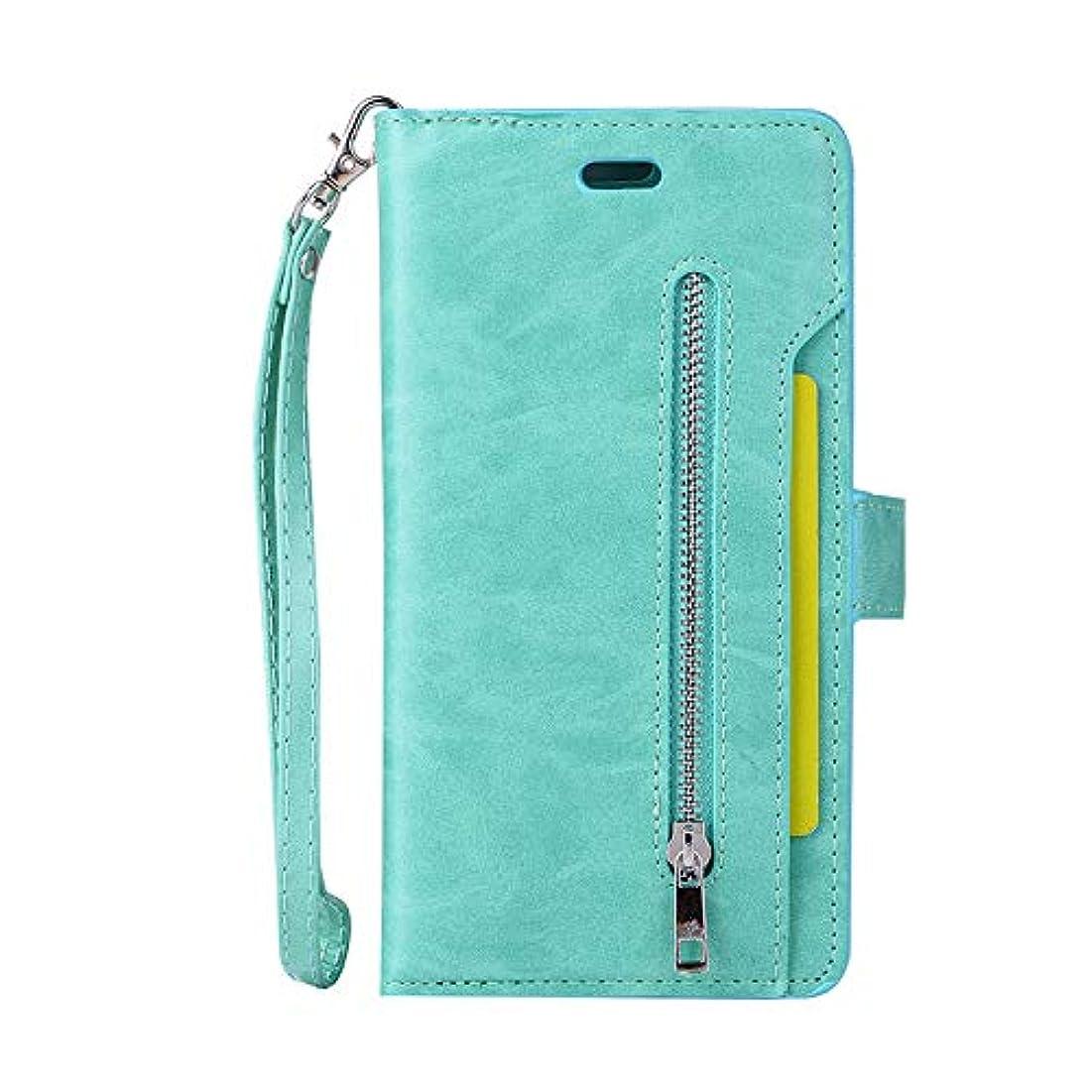 設置対称疲れたスマホケース Iphone 7 Plus カード収納、SIMPLE DO マグネット式吸着 分離式 全面クリア スタンド機能 男子 メンズ 高品質 ビジネス用 通勤 通学 おしゃれ(グリーン)