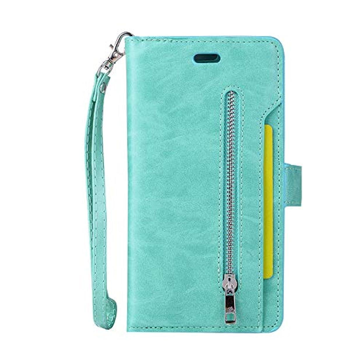 パイル感度ダイアクリティカルスマホケース Iphone 7 Plus カード収納、SIMPLE DO マグネット式吸着 分離式 全面クリア スタンド機能 男子 メンズ 高品質 ビジネス用 通勤 通学 おしゃれ(グリーン)