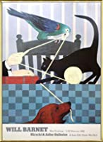 ポスター ウィル バーネット Hirschl&Adler Galleries 1983 額装品 アルミ製ベーシックフレーム(ゴールド)