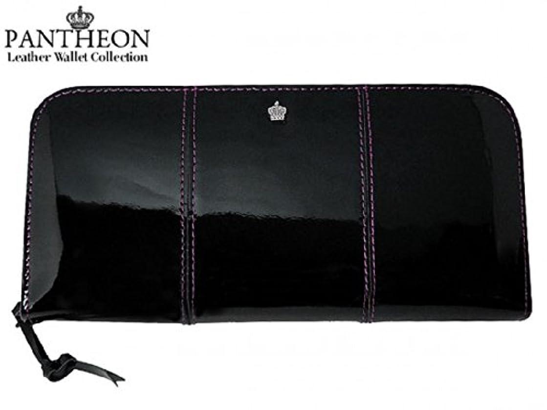 手術さておき速記(パンティオン) PANTHEON 長財布 ブラック/パープル 1331-BKPU