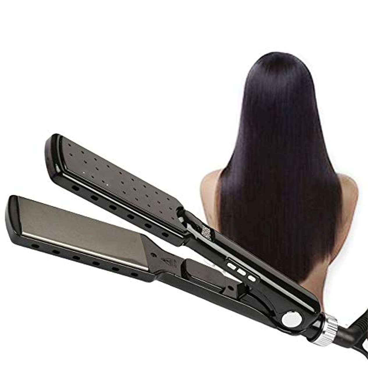 住居本気下品ストレートヘアスティック 360度回転デュアル電圧旅行毛矯正ストレート温度調節可能な毛矯正 すべてのタイプの髪に適しています (色 : A, サイズ : Free size)