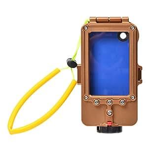サンコー 100mアルミ防水ケース for iPhone5 ゴールド WTPFIP7G