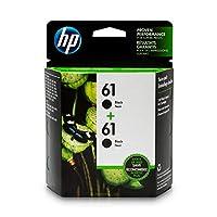 HP Deskjet用HP 61ブラックインクカートリッジ(CH561WN)、インクカートリッジ2個(CZ073FN)