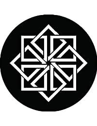 家紋シール 八つ組み角紋 布タイプ 直径40mm 6枚セット NS4-2583