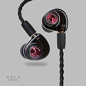 AZLA HORIZON [Crimson Red] ダイナミック型コアドライバーARD搭載イヤホン 高品質シリコン採用イヤーピースSednaEarfit付属