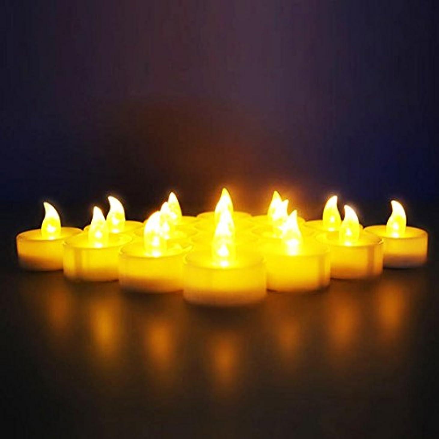 谷不運交渉する(12 Pack) - Novelty Place [Longest Lasting] Battery Operated Flickering Flameless LED Tea Light Candles (Pack of 12)