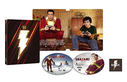 【Amazon.co.jp限定】【メーカー特典あり】シャザム! スチールブック仕様 4K ULTRA HD & ブルーレイセット (限定生産/2枚組)(オリジナルピンバッジ付)(DC×モンキー・パンチ オリジナルステッカー付) [Blu-ray]