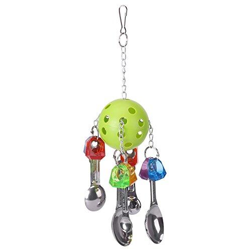 [해외]애완 동물 용품 씹는 장난감 숟가락 모양 吊下げ 유형 장난감 다채로운 스트레스 해소 잉꼬 조류 앵무새 동물 장난감/Pet Supplies Bite Toys Spoon Pattern Hanging Type Toy Colorful Stress Relief Inco Birds Parrot Small Animal Toy