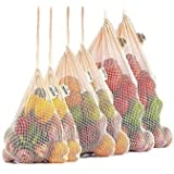 3 Pack Reusable Cotton Mesh Produce Bags, Washable, Eco Friendly for Grocery Shopping, Fruit and Vegetable Storage and Toy St