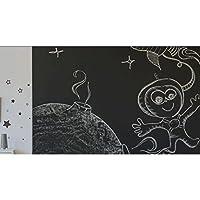 黒板の壁のステッカー幼稚園の教室の子供の部屋の装飾のレイアウト消去可能なグラフィティ厚い黒板のステッカー自己接着 GAODUZI (色 : B)