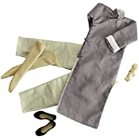 Kesoto カンフースーツ グレー フィギュア適用 長袖 ローブセット 12インチ  衣装 1/6スケール