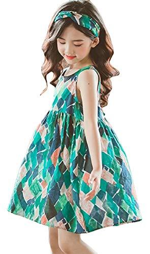 [サコイユ] ワンピース 110~160 髪紐付 ガールズ ノースリーブ 女の子 チュニック トップス キッズ ジュニア