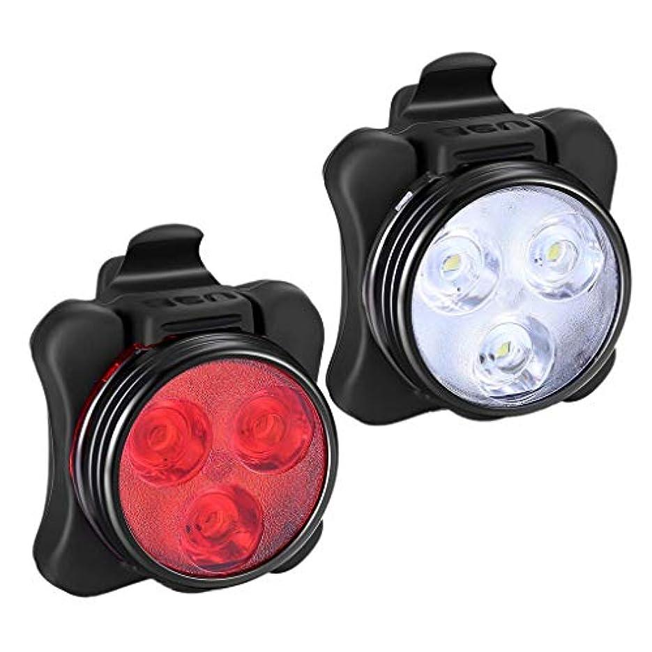 知恵一回れるLORIA?JP自転車ライト 前/後照灯 2点セット サイクルライト 4つ発光モード SOS機能付き IPX-5防水 USB充電式 交通事故防止 設置簡単 脱落しにくい 防災対策 釣り ハイキングなど対応